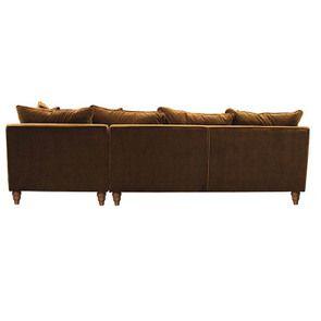 Canapé d'angle en velours bronze - Rivoli - Visuel n°7