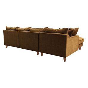 Canapé d'angle en velours bronze - Rivoli - Visuel n°8