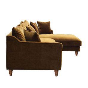 Canapé d'angle en velours bronze - Rivoli - Visuel n°9