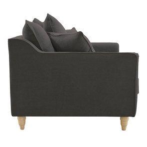 Canapé 2 places en tissu lin anthracite - Rivoli - Visuel n°5