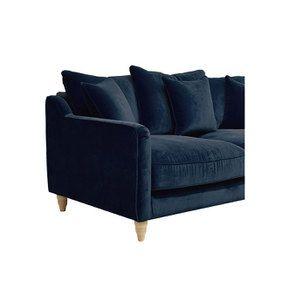 Canapé 3 places en velours bleu paon - Rivoli - Visuel n°6