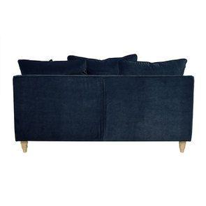 Canapé 3 places en velours bleu paon - Rivoli - Visuel n°4