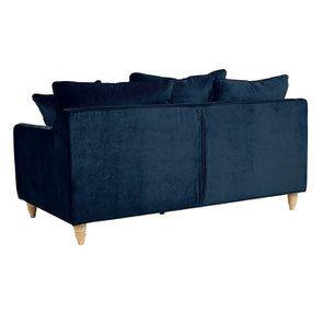 Canapé 3 places en velours bleu paon - Rivoli - Visuel n°5