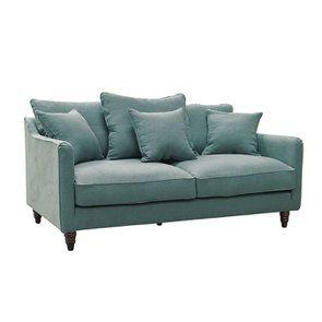 Canapé 3 places en tissu céladon - Rivoli - Visuel n°2