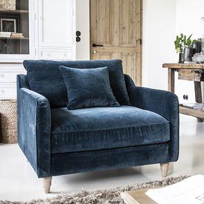 Fauteuil en velours bleu paon - Rivoli Love Seat - Visuel n°3
