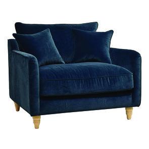 Fauteuil en velours bleu paon - Rivoli Love Seat - Visuel n°4