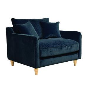 Fauteuil en velours bleu paon - Rivoli Love Seat - Visuel n°5