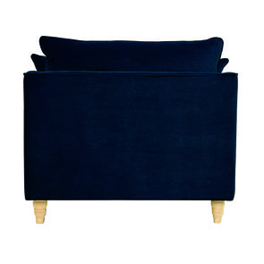 Fauteuil en velours bleu paon - Rivoli Love Seat - Visuel n°7