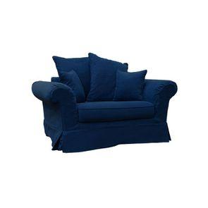 Fauteuil en tissu bleu foncé - British Love Seat - Visuel n°2