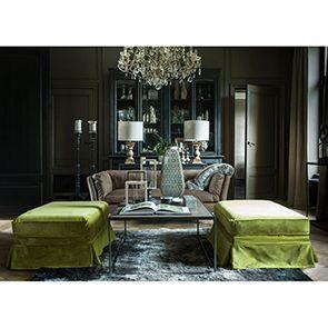 Pouf en tissu vert - British Love Seat