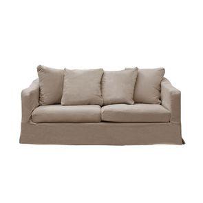 Canapé fixe 3 places en tissu ficelle - Cleveland - Visuel n°1