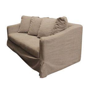 Canapé 3 places en tissu beige - Cleveland - Visuel n°2