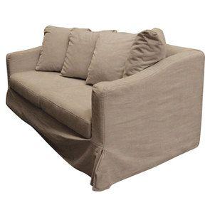 Canapé 3 places en tissu beige - Cleveland - Visuel n°3