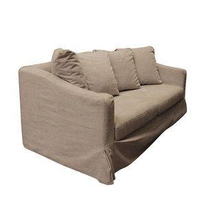 Canapé 3 places en tissu beige - Cleveland - Visuel n°4