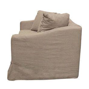Canapé 3 places en tissu beige - Cleveland - Visuel n°7