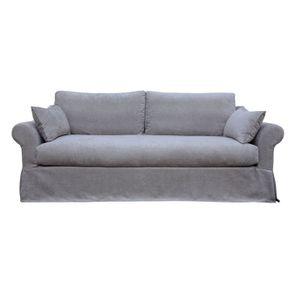 Canapé 3 places gris en tissu - Denver - Visuel n°1