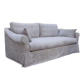 Canapé 3 places gris en tissu - Denver - Visuel n°3
