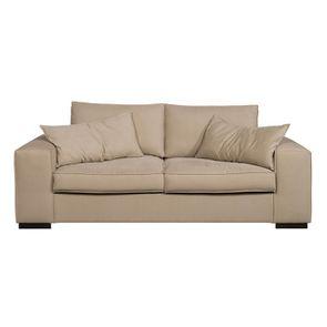 Canapé 3 places en tissu beige - Hudson - Visuel n°1