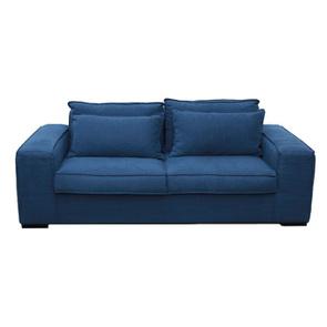Canapé 3 places en tissu bleu foncé - Hudson - Visuel n°1