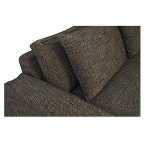 Canapé XL 4 places en tissu Marron - Hudson - Visuel n°6
