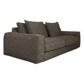 Canapé XL 4 places en tissu Marron - Hudson - Visuel n°2