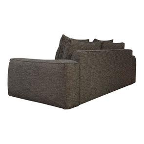 Canapé XL 4 places en tissu Marron - Hudson - Visuel n°3