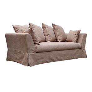 Canapé 3 places en tissu rose - Lismore - Visuel n°4