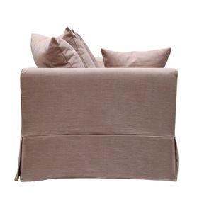 Canapé 3 places en tissu rose - Lismore - Visuel n°5