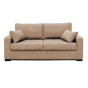 Canapé 3 places en tissu beige - Malcolm - Visuel n°1