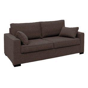 Canapé 3 places en tissu marron clair - Malcolm - Visuel n°2