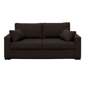 Canapé 3 places en tissu gris chiné - Malcolm