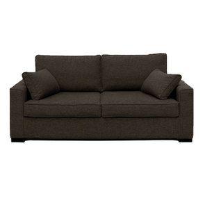 Canapé 3 places en tissu gris - Malcolm
