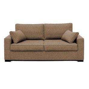 Canapé 3 places en tissu beige perle - Malcolm - Visuel n°1