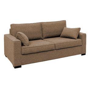 Canapé 3 places en tissu beige perle - Malcolm - Visuel n°2