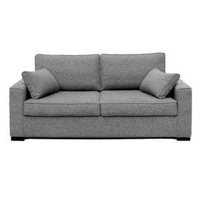 Canapé convertible 3 places en tissu gris clair - Malcolm
