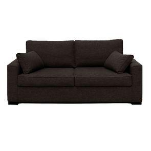 Canapé convertible 3 places en tissu chiné gris - Malcolm