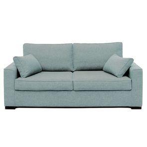 Canapé convertible 3 places en tissu bleu clair - Malcolm - Visuel n°1