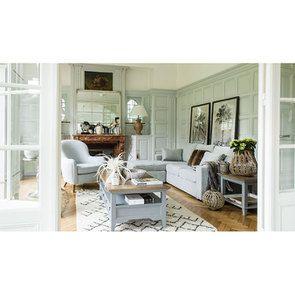 Canapé d'angle 5 places en tissu gris - Malcolm - Visuel n°3
