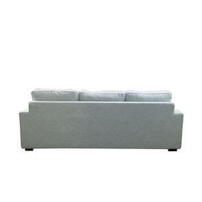 Canapé d'angle 5 places en tissu gris - Malcolm - Visuel n°5