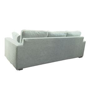 Canapé d'angle 5 places en tissu gris - Malcolm - Visuel n°6