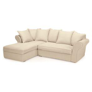 Canapé d'angle 5 places en tissu naturel - Melbourne
