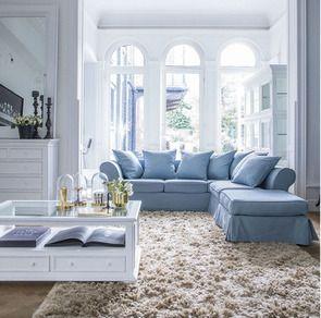 Canapé d'angle 5 places gris en tissu - Melbourne