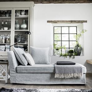 Canapé d'angle 5 places en tissu bleu - Melbourne - Visuel n°3