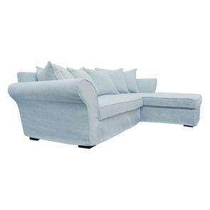 Canapé d'angle 5 places en tissu bleu - Melbourne - Visuel n°4