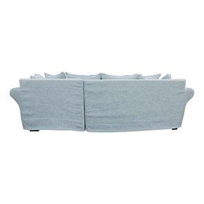 Canapé d'angle 5 places en tissu bleu - Melbourne - Visuel n°5