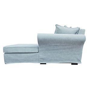 Canapé d'angle 5 places en tissu bleu - Melbourne - Visuel n°7