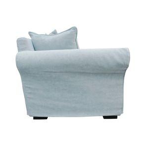 Canapé d'angle 5 places en tissu bleu - Melbourne - Visuel n°8