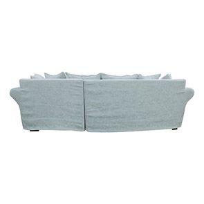 Canapé d'angle convertible 5 places en tissu bleu - Melbourne - Visuel n°4