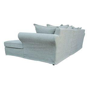 Canapé d'angle convertible 5 places en tissu bleu - Melbourne - Visuel n°5
