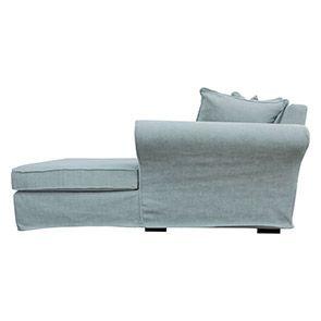 Canapé d'angle convertible 5 places en tissu bleu - Melbourne - Visuel n°6